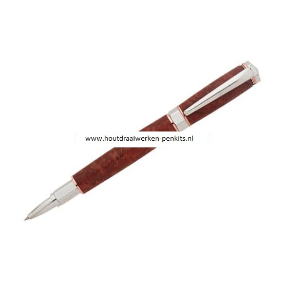 Hexagonal Roller ball pen kit chrome