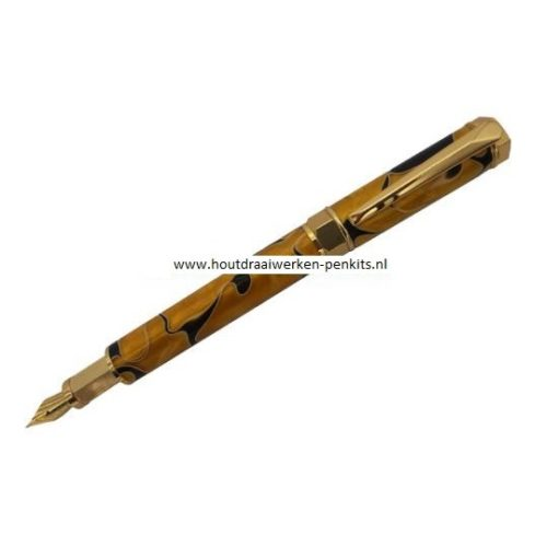 Hexagonal fountain pen kit goud