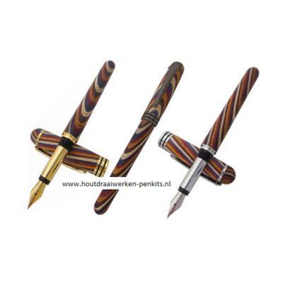 Semicircular fountain pen kit