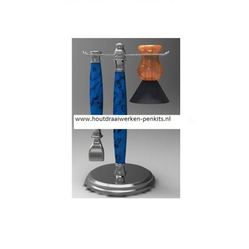 Shaving stand kit gun metaal