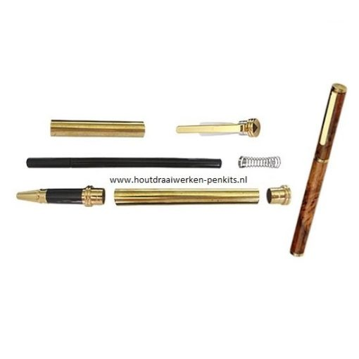 conservative rollerball pen kits goud