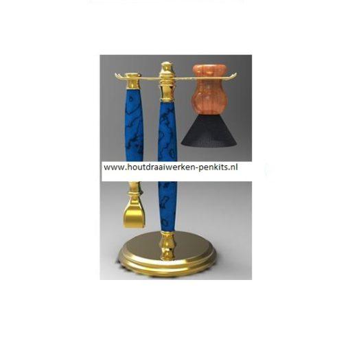 Gold shaving stand kit