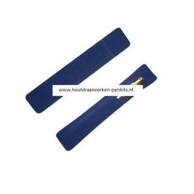 Blue velvet pen sleeves