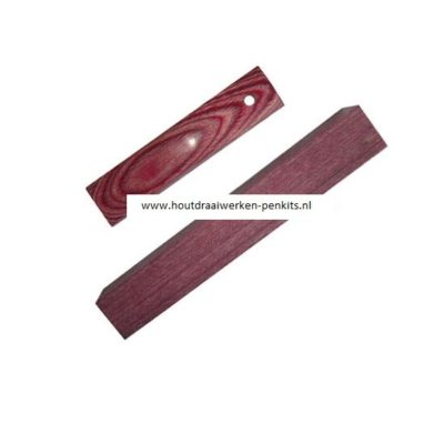 Red color wood pen blank