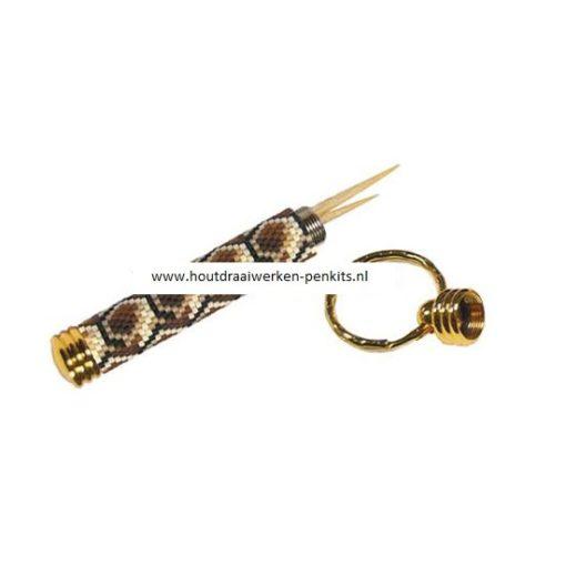 secret compartment key chain kit Gold