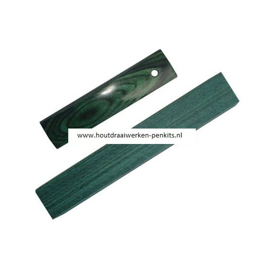CWA125 Emerald color wood pen blank