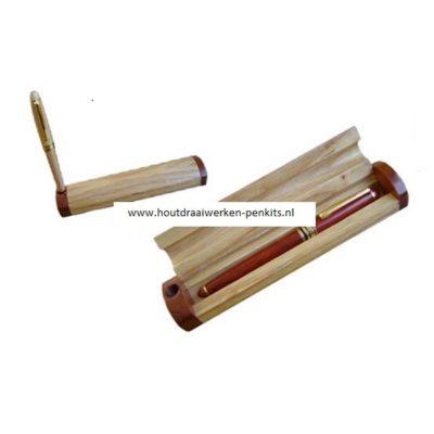 pennen doosje hout enkel