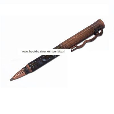 Action pen kit Antique rose copper polish