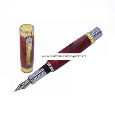 Love Fountain pen kits Chrome + Gold