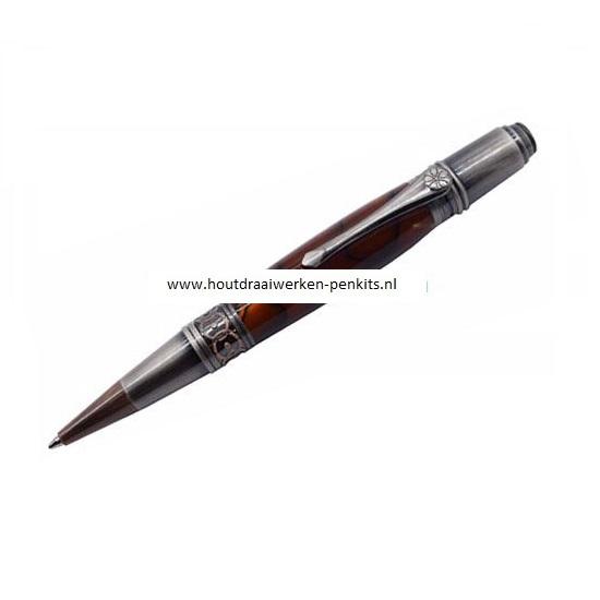 Prozx art deco pen kit Antique rose copper + Gun polish