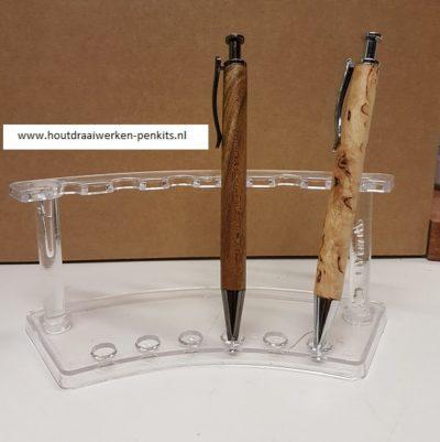 Pen houder voor 6 pennen horizontaal