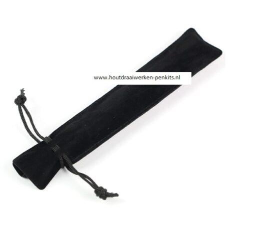 velvet pen pouches black 17.5x3