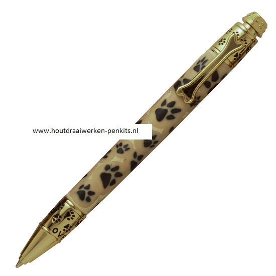 Dog 24kt Gold Click Pen Kit