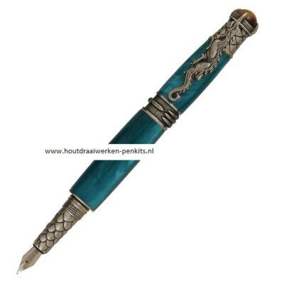 Dragon Antique pewter fountain pen kit